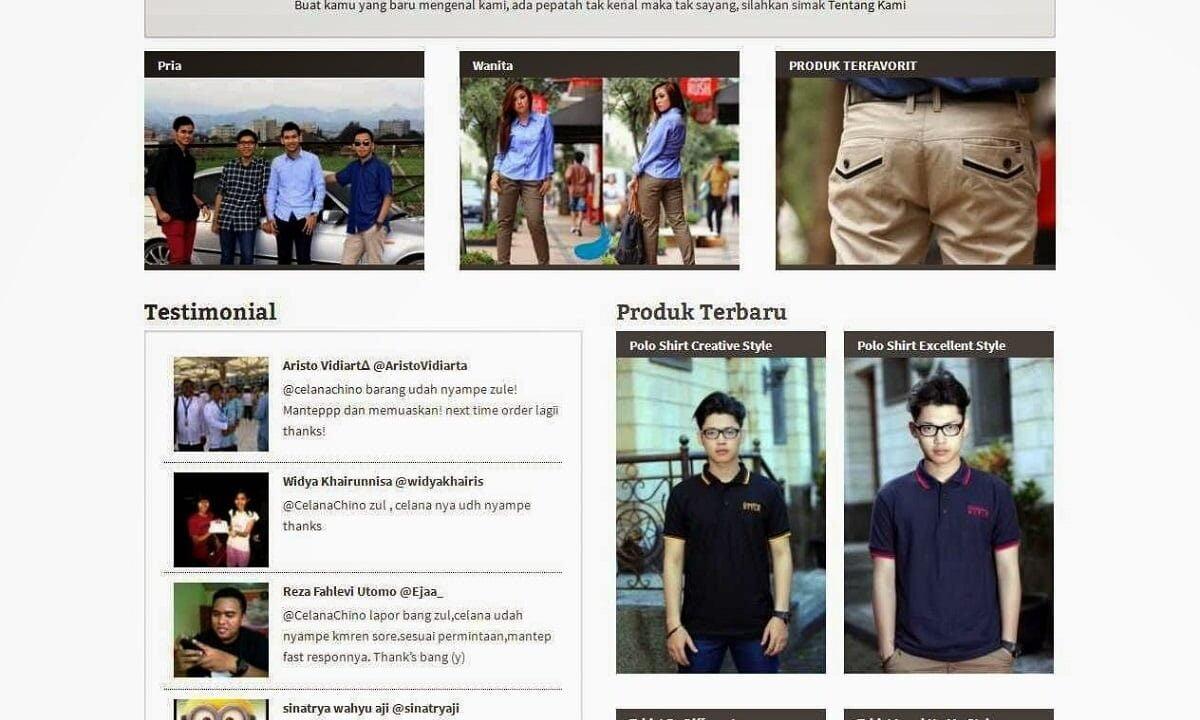 I Wear Zule | Portfolio Web Design Bandung Indonesia