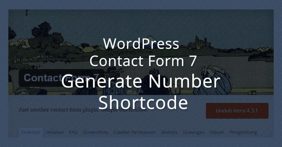 Membuat Fungsi Nomor Acak di Contact Form 7