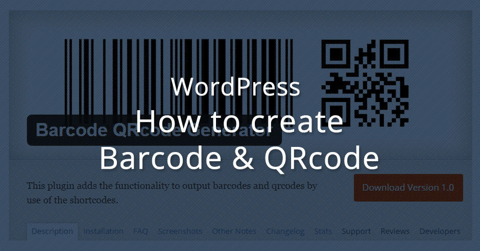 Cara Membuat Barcode di WordPress