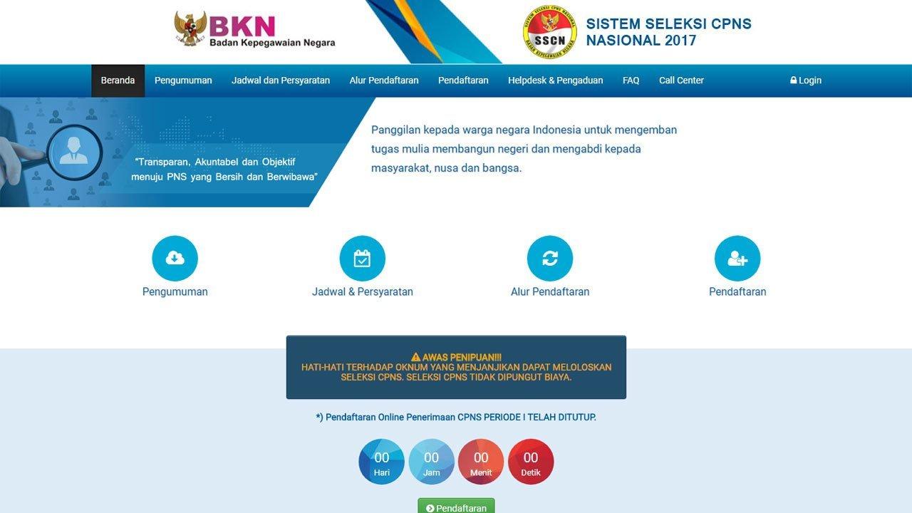 SSCN BKN 2017