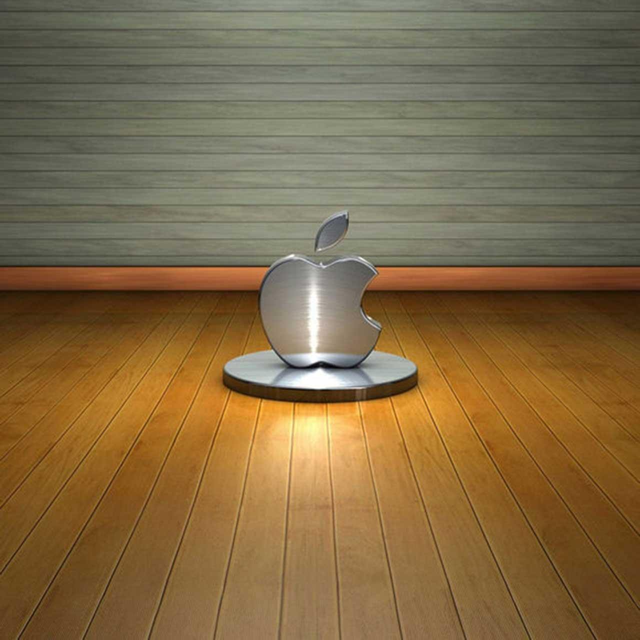 3d apple logo ipad Wallpaper