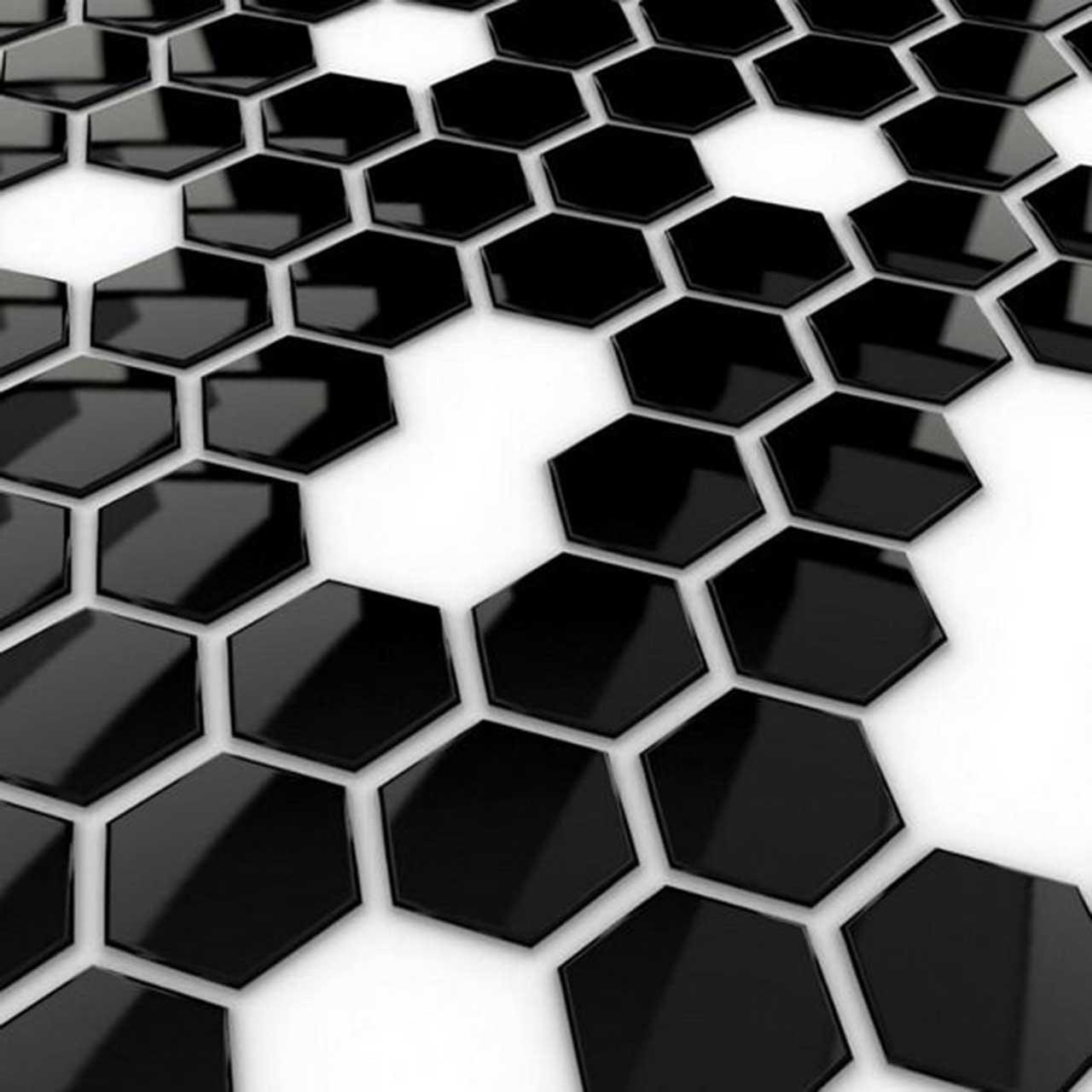 black hex wallpaper