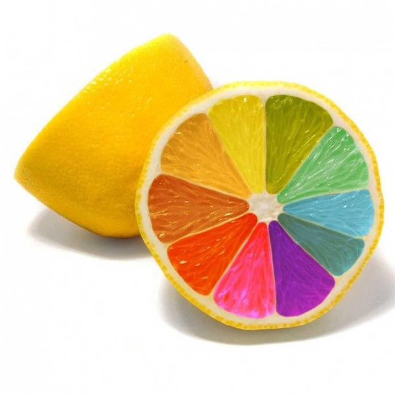 colourful lemon Wallpaper