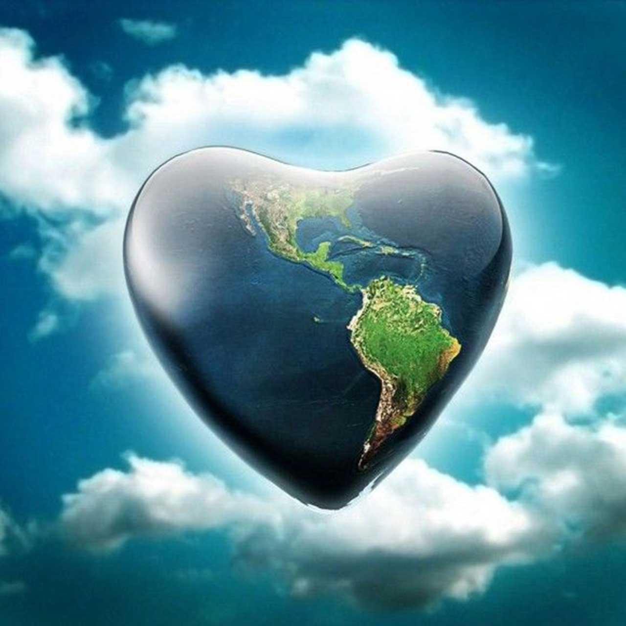 earth Love heart wallpaper