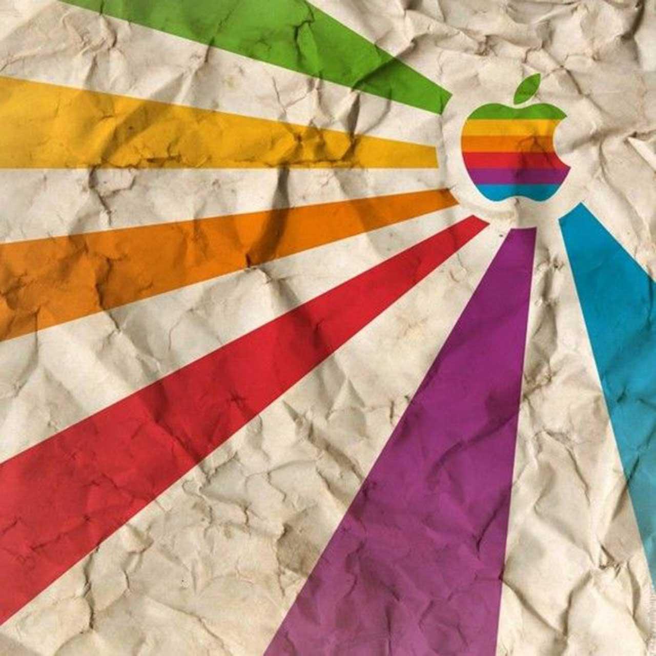 apple sunburst wallpaper