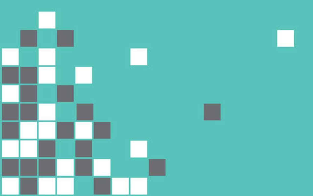 Teal Pixels Wallpaper